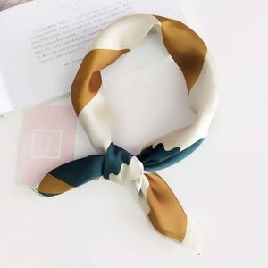 Soft Silky Square Scarf for Bag Head Neck Hair